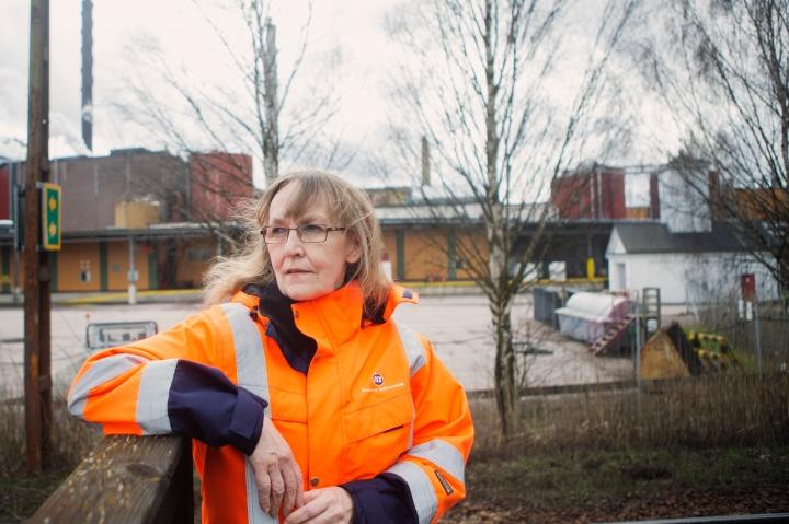 Fotograf Maria Hansson. Solveig Bengter på Fors Kartong/Stora Enso,