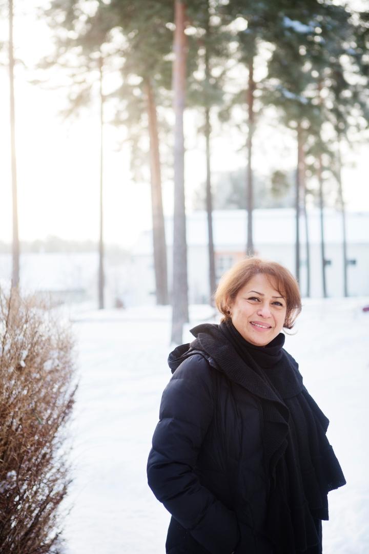 Fotograf Maria Hansson. Till Vision. Maryam Madhoush i Falun.